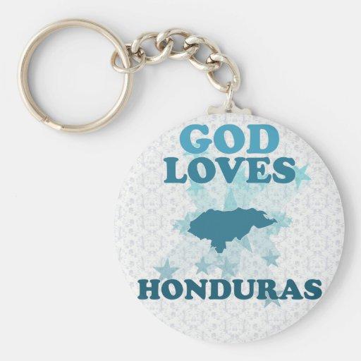 God Loves Honduras Keychain