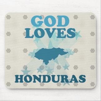 God Loves Honduras Mousepads