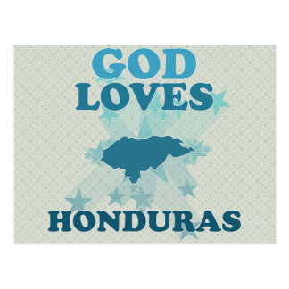 God Loves Honduras Postcard