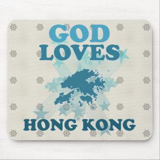 God Loves Hong Kong Mousepads