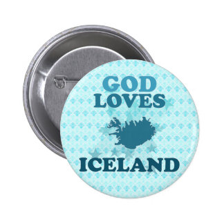God Loves Iceland Pinback Buttons