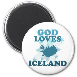 God Loves Iceland Fridge Magnets
