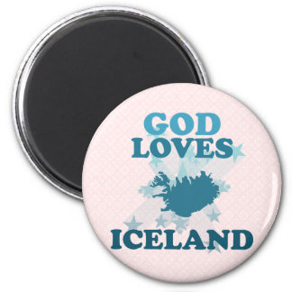 God Loves Iceland Fridge Magnet