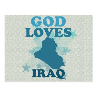 God Loves Iraq Postcard