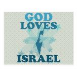 God Loves Israel Postcard