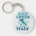 God Loves Italy Keychains