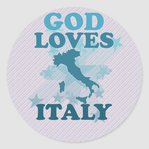 God Loves Italy Stickers