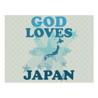 God Loves Japan Post Card