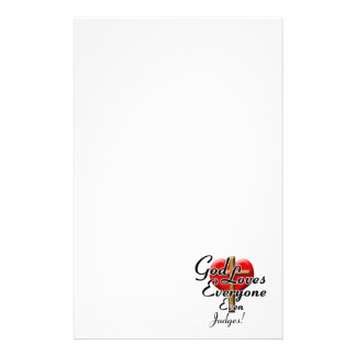 God Loves Judges! Personalized Stationery