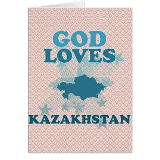 God Loves Kazakhstan Greeting Card