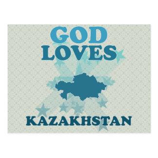 God Loves Kazakhstan Post Cards