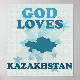 God Loves Kazakhstan Print