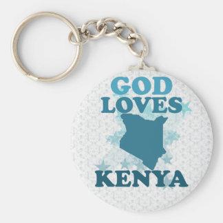 God Loves Kenya Basic Round Button Keychain
