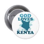 God Loves Kenya Pin