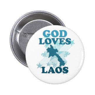 God Loves Laos Pin