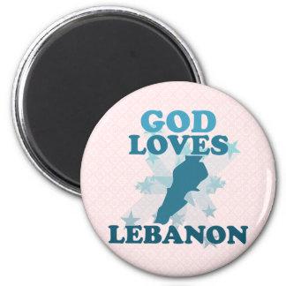 God Loves Lebanon Magnet