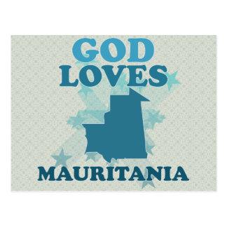 God Loves Mauritania Postcard