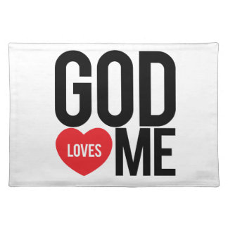 God Loves Me Cloth Placemat