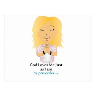 God Loves Me Gay or Straight Postcard
