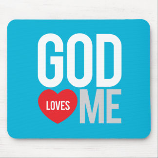 God loves me mouse pad