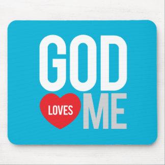 God loves me mouse pad