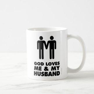 God Loves Me & My Husband Coffee Mug