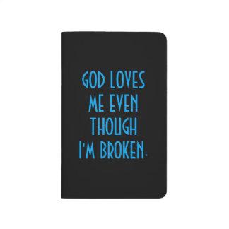 GOD LOVES ME, POCKET JOURNAL