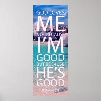God loves me wall poster