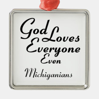 God Loves Michiganians Christmas Ornaments