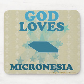 God Loves Micronesia Mouse Pad