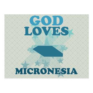 God Loves Micronesia Postcard