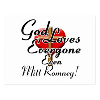 God Loves Mitt Romney! Postcard