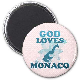 God Loves Monaco Fridge Magnet