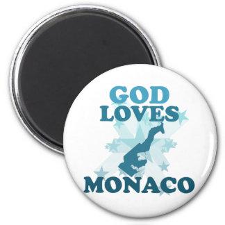 God Loves Monaco Magnets