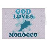 God Loves Morocco Greeting Card