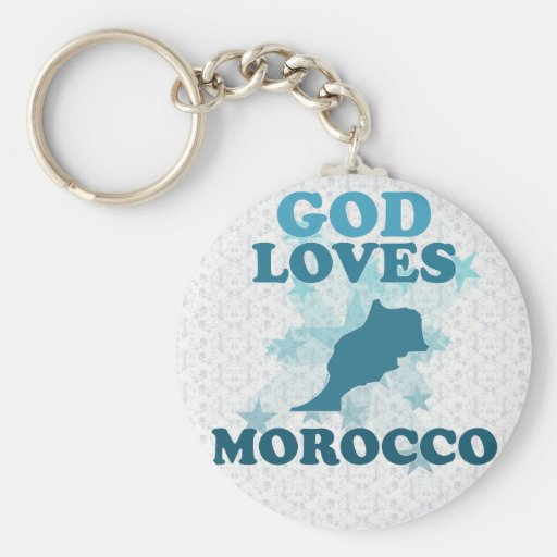God Loves Morocco Key Chains