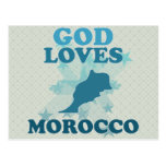 God Loves Morocco Postcard