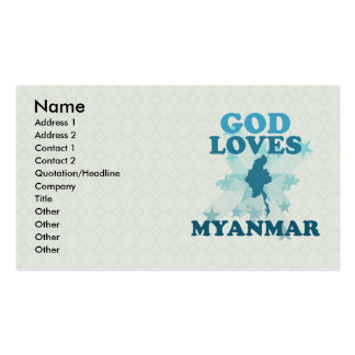 God Loves Myanmar Double-Sided Standard Business Cards (Pack Of 100)