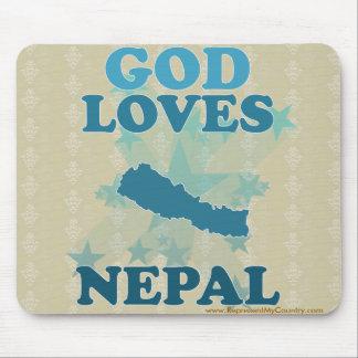 God Loves Nepal Mouse Pad