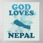 God Loves Nepal Print