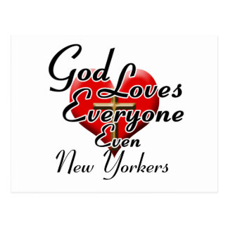 God Loves New Yorkers Postcard
