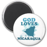 God Loves Nicaragua Fridge Magnets