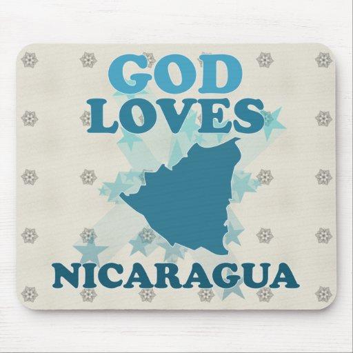 God Loves Nicaragua Mouse Pad