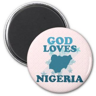God Loves Nigeria Magnet