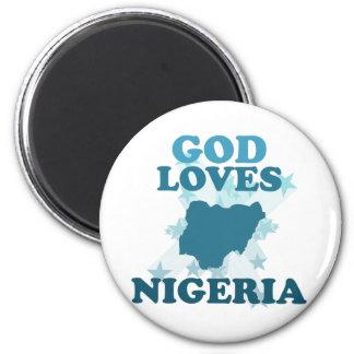 God Loves Nigeria Fridge Magnet