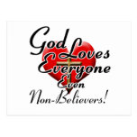 God Loves Non-Believers! Postcard