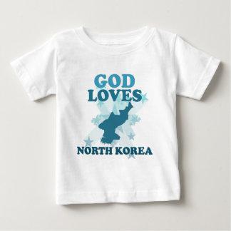God loves north korea t shirts