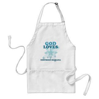 God Loves Northern Mariana Adult Apron