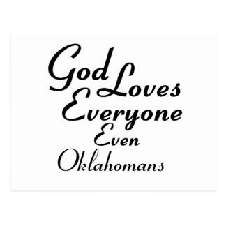 God Loves Oklahoman Postcard