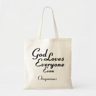 God Loves Oregonians Canvas Bag